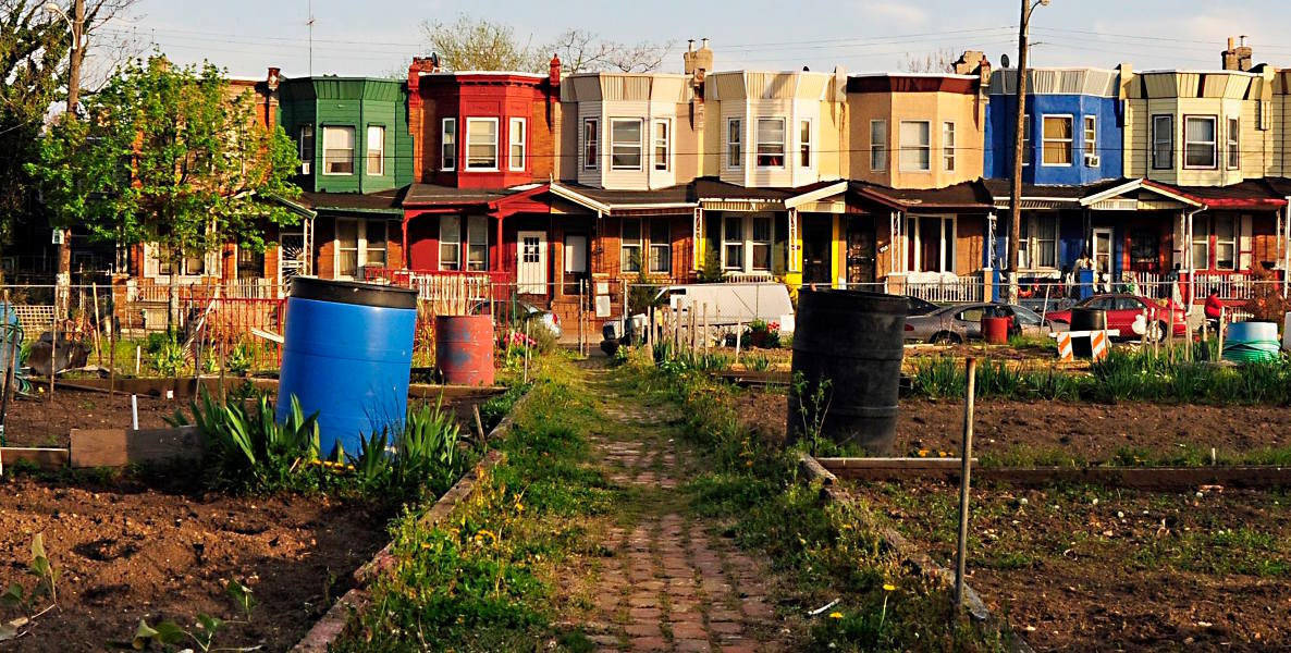 Philadelphia neighborhoods; Healthy Rowhouse Project header