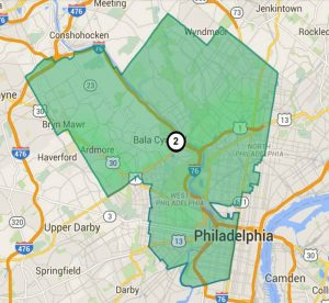 PA's 2nd Congressional District gerrymandering