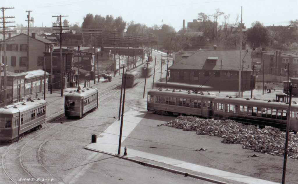 Frankford Terminal, taken in 1918, before the construction of the Frankford El.