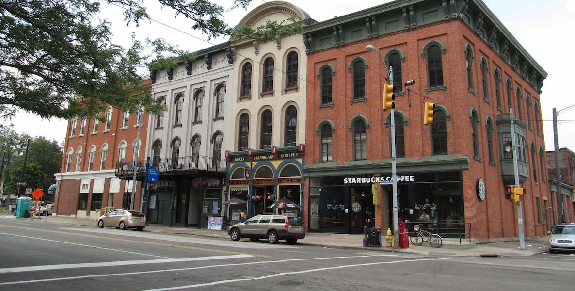 Businesses in downtown Erie, Pennsylvania