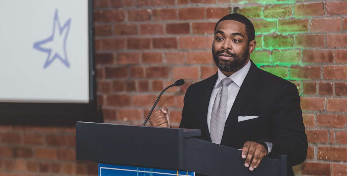 Omar Woodward is the executive director of GreenLight Fund in Philadelphia, supports data-based program that have made a big difference on poverty in the city.