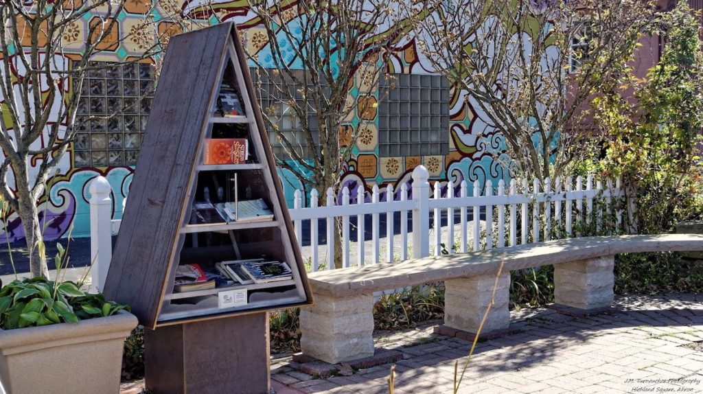 A triangular little free library shows how you can get creative with your little free library creations