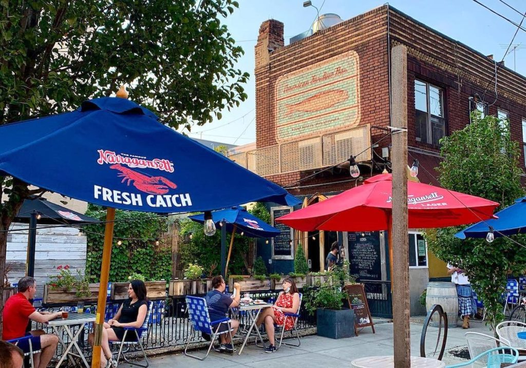 This photo of American Sardine Bar accompanies an article about the best and most beautiful places to eat outdoors in Philadelphia