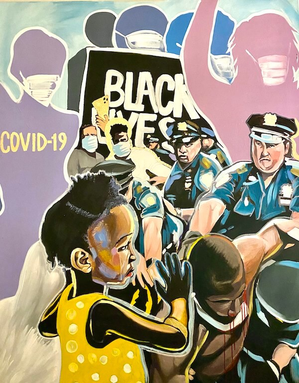 Artwork by Philadelphia artist Amiracle Campbell