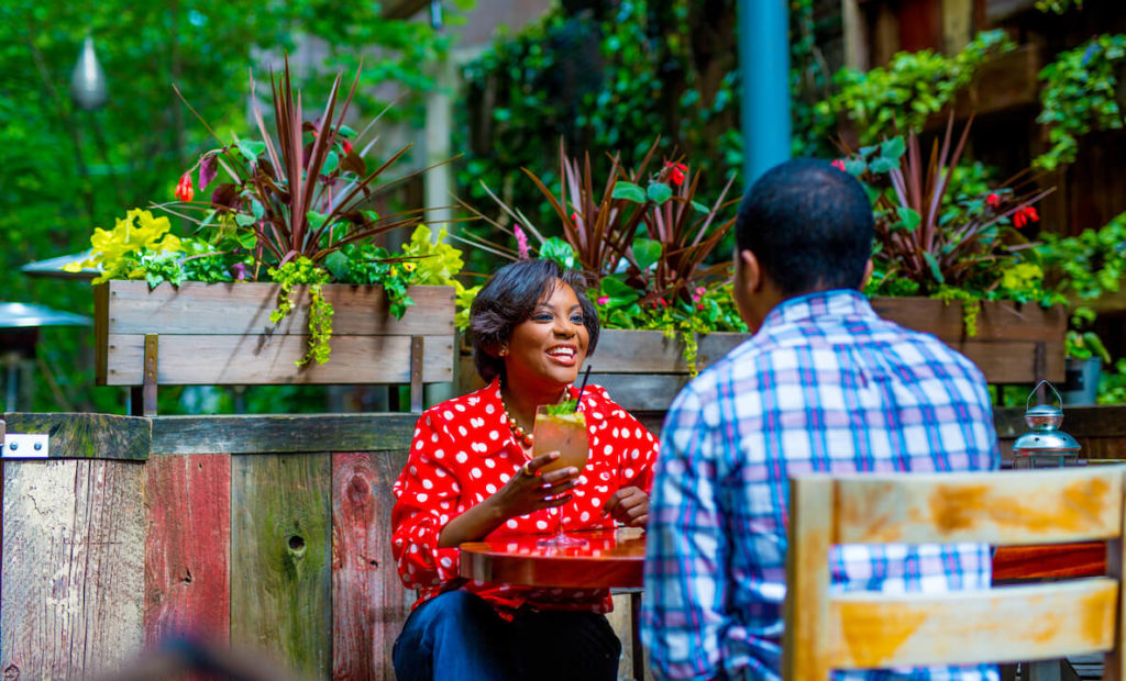 This photo of the patio at Talula's Garden accompanies an article about the best and most beautiful places to eat outdoors in Philadelphia