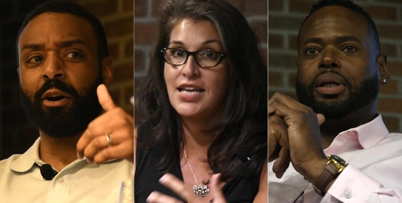 Education innovators Sylvester Mobley, Heidi Ramirez and Carlos Moreno