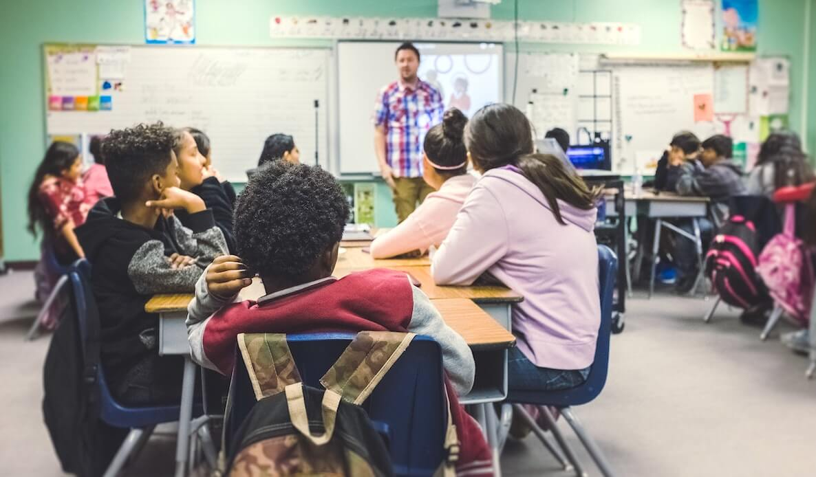 This photo punctuates a writeup about an event in Philadelphia about innovation in education